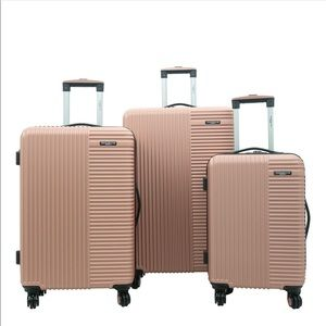 Travelers club basette 3 piece luggage set